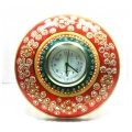Royal Marble Wall watch with kundan and meenakari work